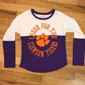 Clemson 5th & Ocean shirt girls size 7